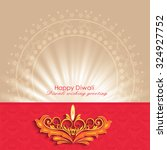 vector illustration or greeting ... | Shutterstock .eps vector #324927752