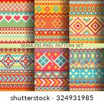 collection of colorful seamless ...   Shutterstock .eps vector #324931985