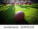 american football on stadium... | Shutterstock . vector #324932135