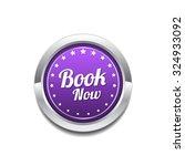 book now purple vector icon... | Shutterstock .eps vector #324933092