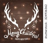 christmas card with abstract... | Shutterstock .eps vector #324936362