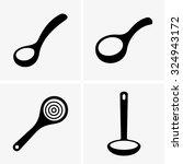 soup ladles | Shutterstock .eps vector #324943172