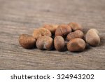 baobab seeds an old and brown... | Shutterstock . vector #324943202