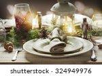 Christmas Table Setting....