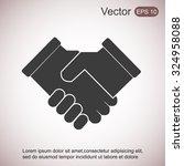 handshake icon | Shutterstock .eps vector #324958088