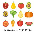 vegetables and fruits icons....   Shutterstock . vector #324959246