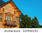 Wooden Cottage. Cottage With A...