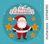 merry christmas card design ... | Shutterstock .eps vector #324968582
