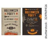 halloween party vector... | Shutterstock .eps vector #324969416