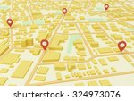 street map with gps icons | Shutterstock . vector #324973076