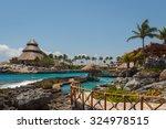 caribbean landscape near cancun ... | Shutterstock . vector #324978515