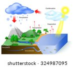 water cycle diagram. the sun ...