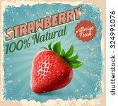 strawberry vintage | Shutterstock .eps vector #324991076