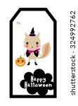 cute squirrel halloween tag | Shutterstock .eps vector #324992762