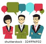 business people group  with... | Shutterstock .eps vector #324996932