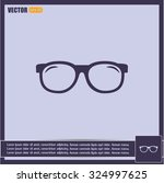 vector illustration glasses | Shutterstock .eps vector #324997625