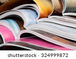 close up of stack of colorful... | Shutterstock . vector #324999872