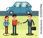 trading cars and rental cars .... | Shutterstock .eps vector #325005986