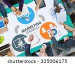 marketing strategy branding... | Shutterstock . vector #325006175
