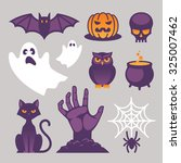 set of bright halloween icons ... | Shutterstock .eps vector #325007462