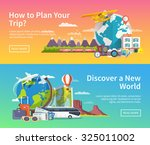 beautiful set of flat vector... | Shutterstock .eps vector #325011002