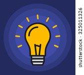 idea creativity light lamp... | Shutterstock .eps vector #325011326