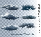 Set Of Transparent Clouds....