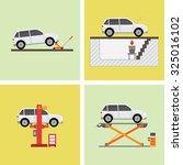 garage   Shutterstock .eps vector #325016102