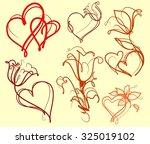 set drawing vector graphics... | Shutterstock .eps vector #325019102