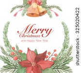 christmas greeting card. merry... | Shutterstock . vector #325020422