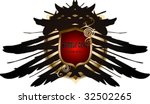 gold shield with wings | Shutterstock .eps vector #32502265