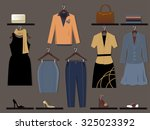 clothing store for women wall... | Shutterstock .eps vector #325023392
