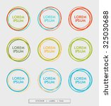 colorful circle sticker in... | Shutterstock .eps vector #325030688