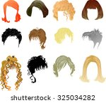 hairstyles | Shutterstock .eps vector #325034282