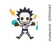 a worker were electrocuted by... | Shutterstock .eps vector #325041662