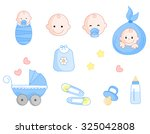 cute baby boy icon collection... | Shutterstock . vector #325042808