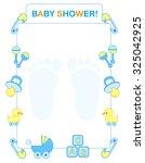 illustration of a baby shower... | Shutterstock . vector #325042925