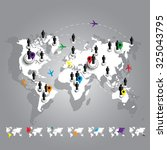 world map connection. business... | Shutterstock .eps vector #325043795