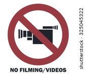 no filming video sign. vector...