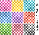 gingham patterns   textures in... | Shutterstock . vector #325046228