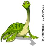 green brachiosaurus with long... | Shutterstock .eps vector #325049288