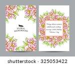vintage delicate invitation... | Shutterstock .eps vector #325053422