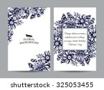 vintage delicate invitation... | Shutterstock .eps vector #325053455
