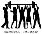 eps8 editable vector silhouette ... | Shutterstock .eps vector #325055612