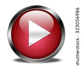 play button isolated | Shutterstock . vector #325056986