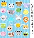 Cute Animal Face Sticker...