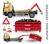 garbage transportation and... | Shutterstock .eps vector #325059542