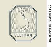 stamp with the name and map of... | Shutterstock .eps vector #325065506
