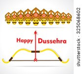 creative happy dussehra ... | Shutterstock .eps vector #325068602