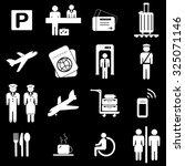 airport icons set illustration | Shutterstock .eps vector #325071146